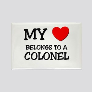 My Heart Belongs To A COLONEL Rectangle Magnet