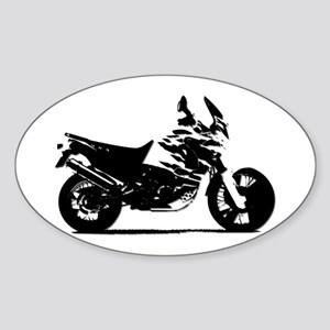 Motorcycle Oval Sticker