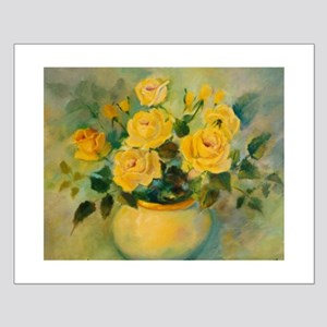 Yellow Roses Small Poster