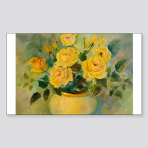 Yellow Roses Rectangle Sticker