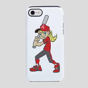 BASEBALL / SOFTBALL GIRL PINK  iPhone 7 Tough Case