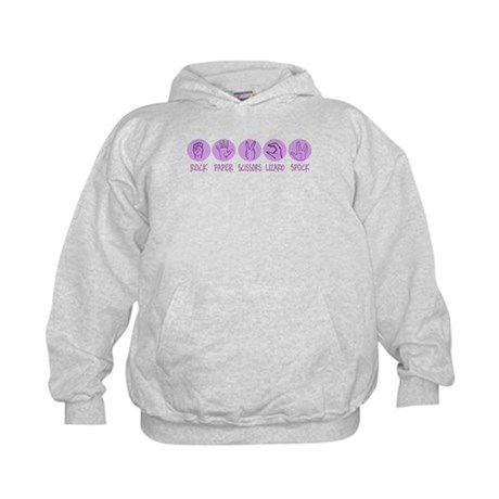 Rock, Paper, Scissors, Lizard Kids Hoodie
