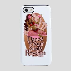 Lotus Soul Rhythm Pink Oval iPhone 7 Tough Case