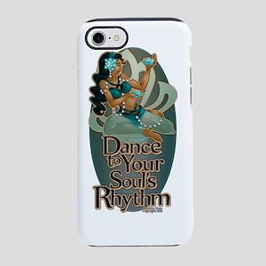 Lotus Soul Rhythm Teal Oval iPhone 7 Tough Case