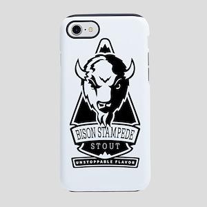 BisonStout_FINAL_blk iPhone 7 Tough Case