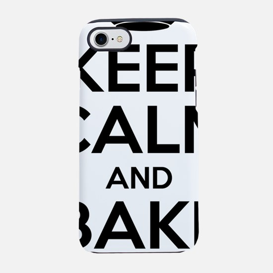 Keep Calm and Bake On iPhone 7 Tough Case