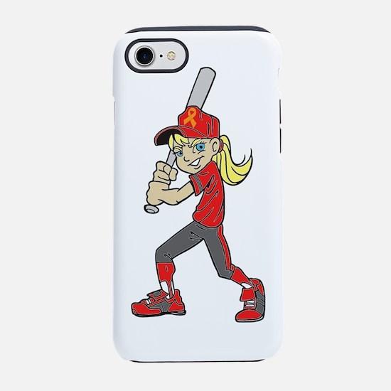BASEBALL / SOFTBALL GIRL ORANG iPhone 7 Tough Case