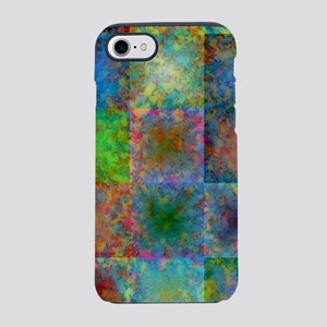 Colorful abstract squares iPhone 7 Tough Case