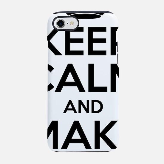 Keep Calm And Make Tea iPhone 7 Tough Case