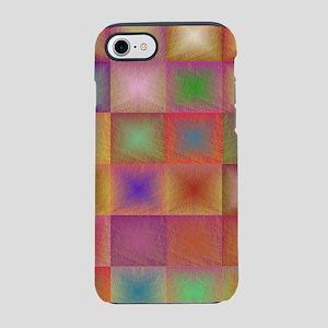 Colorful textured squares iPhone 7 Tough Case