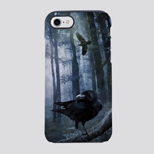 Misty Forest Crows iPhone 7 Tough Case