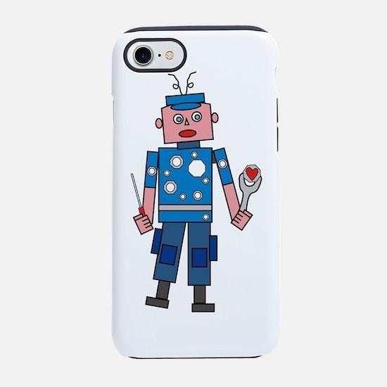 Robot man iPhone 7 Tough Case