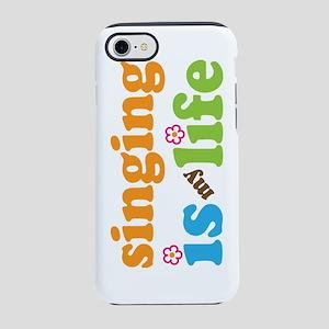 singing life retro flowers Sig iPhone 7 Tough Case