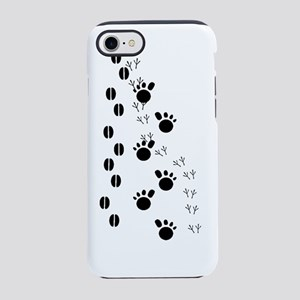 Animal Tracks Silhouette iPhone 7 Tough Case