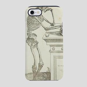 Pensive skeleton iPhone 7 Tough Case