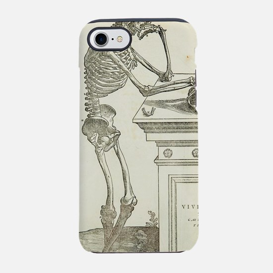 Pensive skeleton iPhone 7 Tough Case