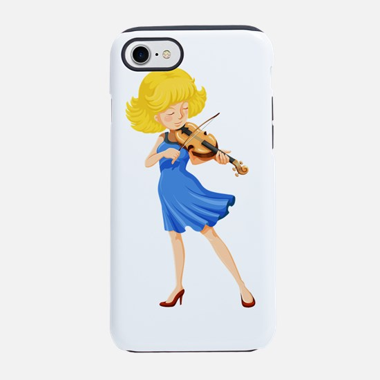 A pretty girl playing the viol iPhone 7 Tough Case