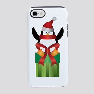 Penguin With Santa Hat On Pres iPhone 7 Tough Case