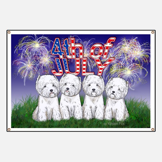 4th of July Westies Banner