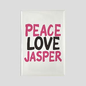 Peace, Love, Jasper Rectangle Magnet