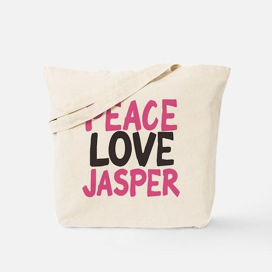 Peace, Love, Jasper Tote Bag