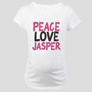 Peace, Love, Jasper Maternity T-Shirt