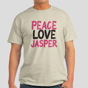 Peace, Love, Jasper Light T-Shirt