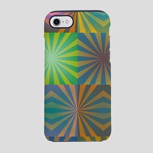 Radial squares iPhone 7 Tough Case