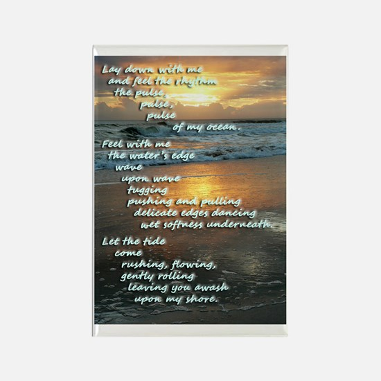 Ocean Poem Rectangle Magnet