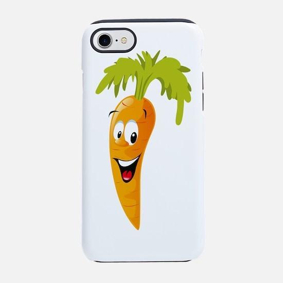 Carrot smiling design iPhone 7 Tough Case