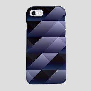 Geometric blue gray iPhone 7 Tough Case