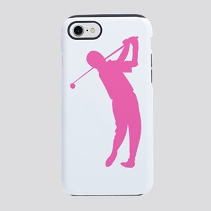Pink Golfer Silhouette iPhone 7 Tough Case