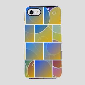 Colorful tiled puzzle iPhone 7 Tough Case