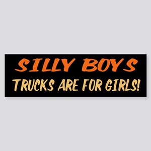 Trucks are for Girls Bumper Sticker