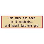 15 Accidents Bumper Sticker