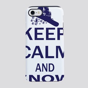 Keep Calm and Snow Board ON iPhone 7 Tough Case