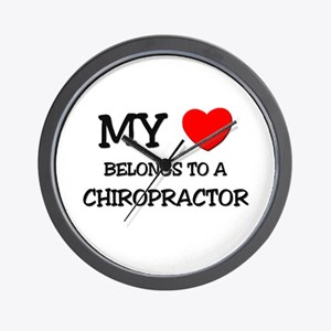 My Heart Belongs To A CHIROPRACTOR Wall Clock