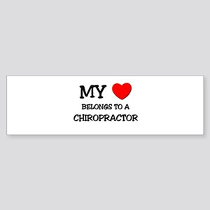 My Heart Belongs To A CHIROPRACTOR Sticker (Bumper