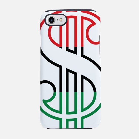 Red, Black and Green Dollar Si iPhone 7 Tough Case