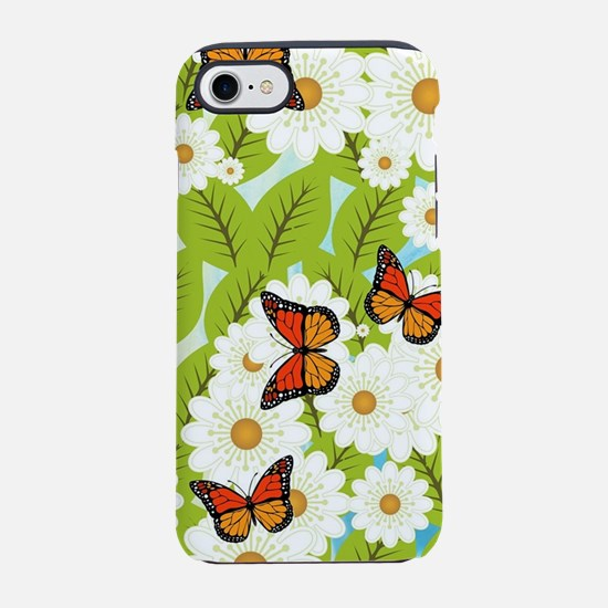 Daisies and butterflies iPhone 7 Tough Case