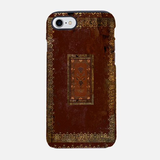 Vintage Victorian Old Leather  iPhone 7 Tough Case