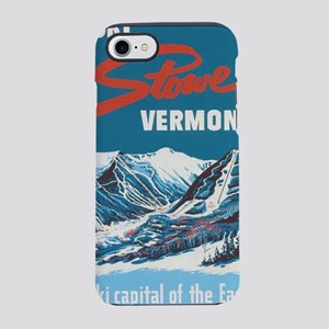 Ski Stowe Vermont Vintage Post iPhone 7 Tough Case