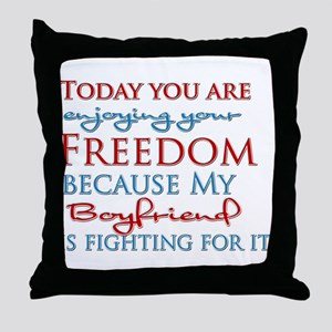 Today you are enjoying your F Throw Pillow