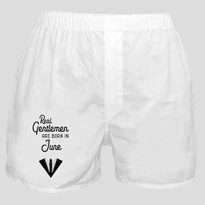 Real Gentlemen are born in June Cjof4 Boxer Shorts