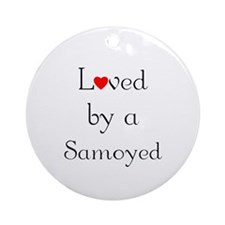 Loved by a Samoyed Ornament (Round)