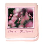 Cherry Tree Blossom baby blanket