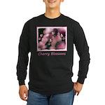 Cherry Tree Blossom Long Sleeve Dark T-Shirt