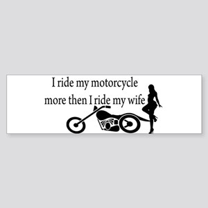 Motorcycle or Wife Bumper Sticker