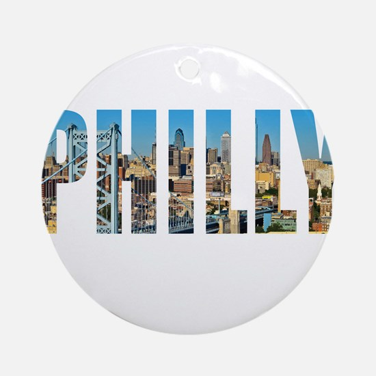 Philly Round Ornament