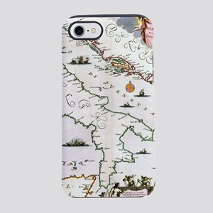 Vintage Map of Italy (17th Cen iPhone 7 Tough Case